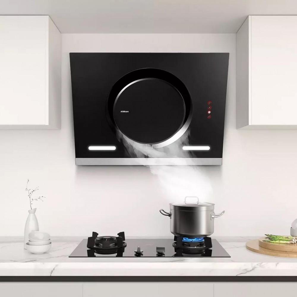 Комплект умной вытяжки и газовой плиты Xiaomi Robam Boss Waved Intelligent Control Hood