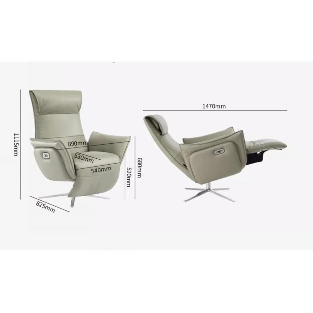 Кресло-реклайнер из натуральной кожи электрическое Xiaomi UE Yoyo Real Leather Leisure Electric Chair