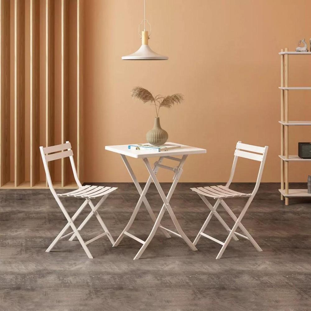 Набор обеденной мебели Складной квадратный стол и 2 стула Xiaomi MWH Colorful Folding Square Table And 2 Folding Chair Set Green