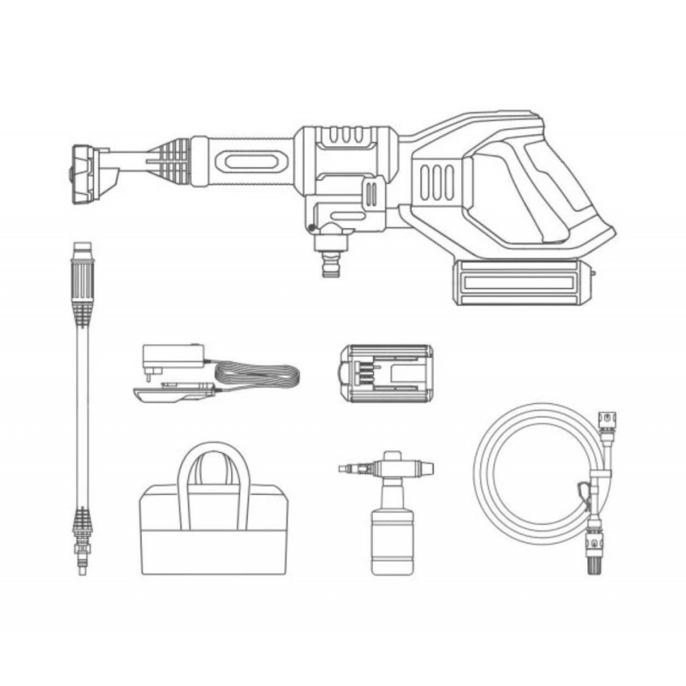 Ручной беспроводной пистолет для мойки Xiaomi Jimmy The Hand-Held Wireless Washing Gun (JW31)