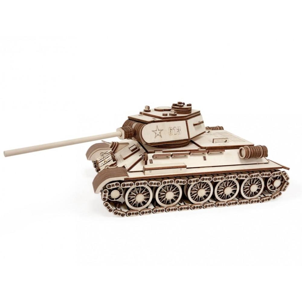 Деревянный конструктор  Wood Story Танк Т-34