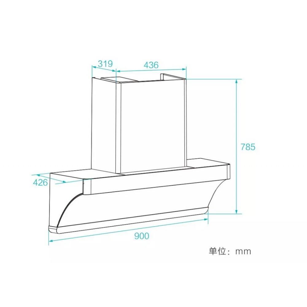 Умная вытяжка Xiaomi Viomi Yunmi Internet Hood Cross 2