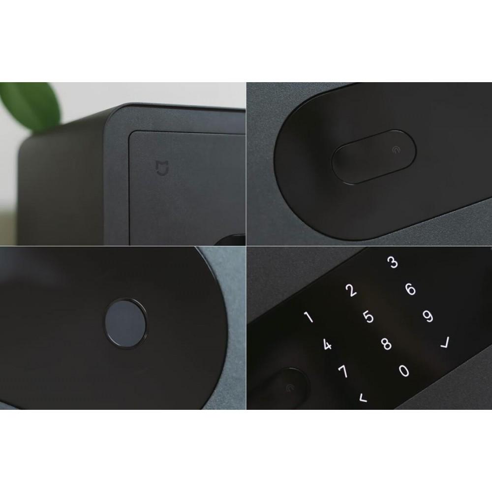 Умный электронный сейф с датчиком отпечатка пальца Xiaomi Mijia Smart Safe Deposit Box Dark Grey (BGX-5X1-3001)