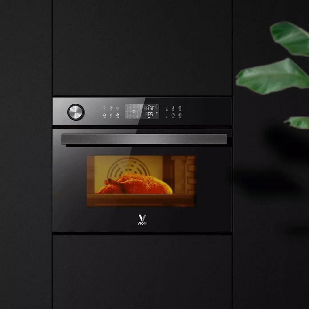 Умный встраиваемый паровой духовой шкаф Xiaomi Viomi Steam Convection Oven King Black (VSO4501-B)