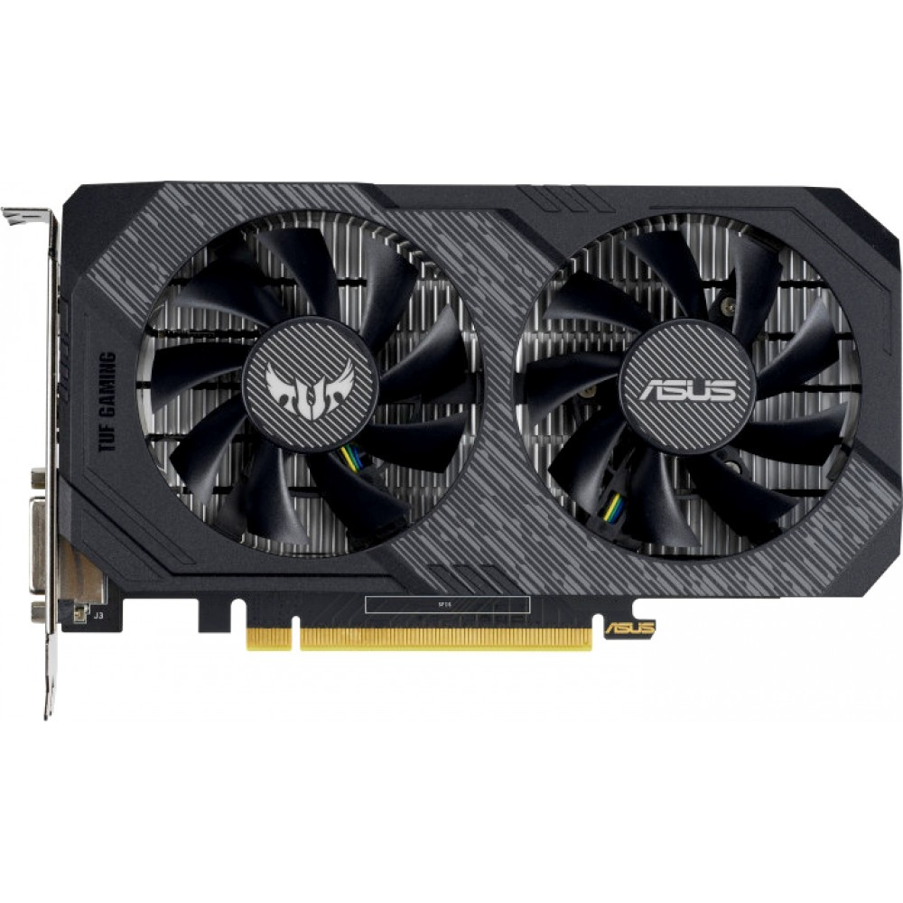 Видеокарта ASUS GeForce GTX 1650 TUF Gaming 1515Mhz PCI-E 3.0 4096Mb 8002Mhz 128 bit DP HDMI DVI TUF-GTX1650-4G-GAMING