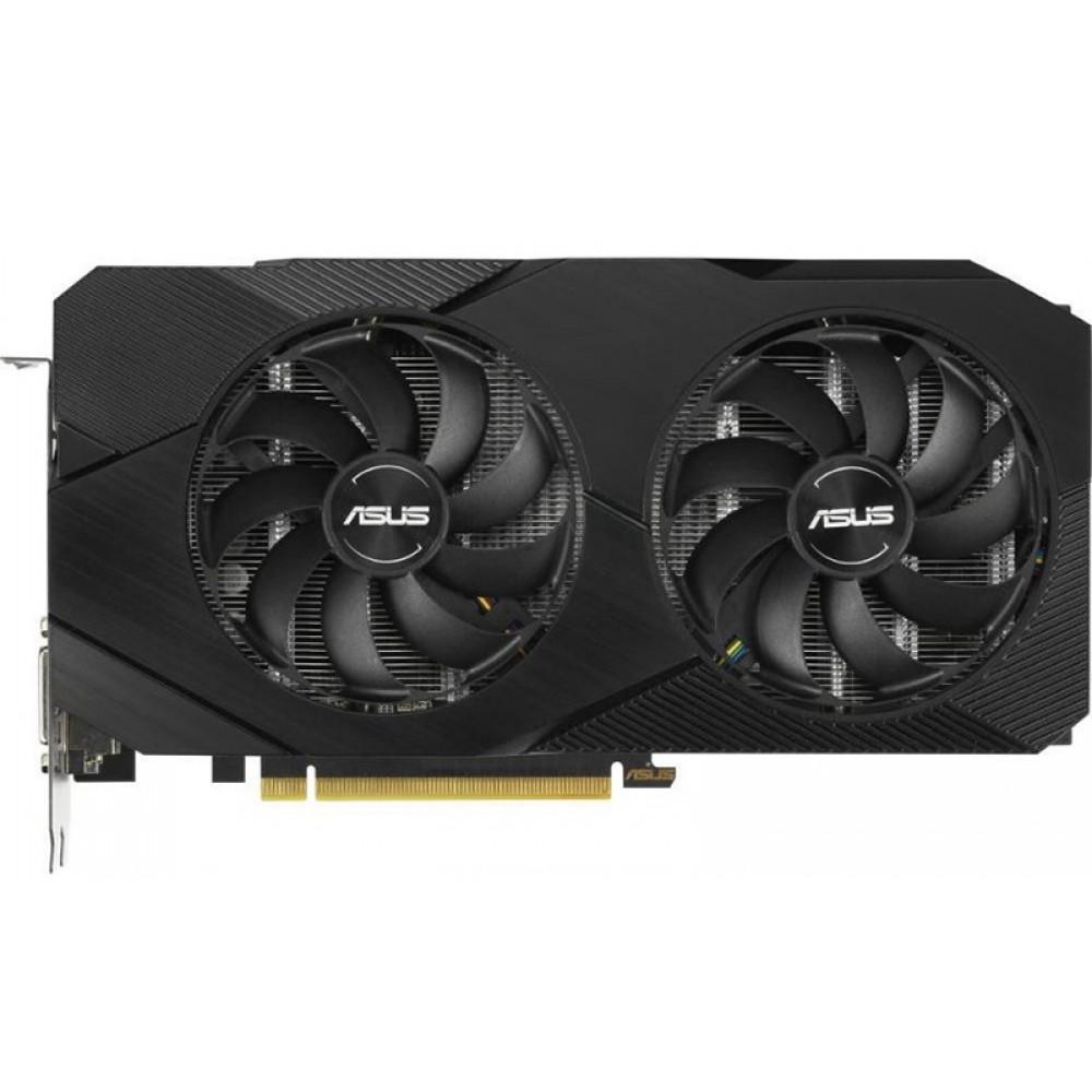 Видеокарта ASUS GeForce GTX 1660 Super Dual OC EVO 1530Mhz PCI-E 3.0 6144Mb 14002Mhz 192 bit DP HDMI DVI DUAL-GTX1660S-O6G-EVO