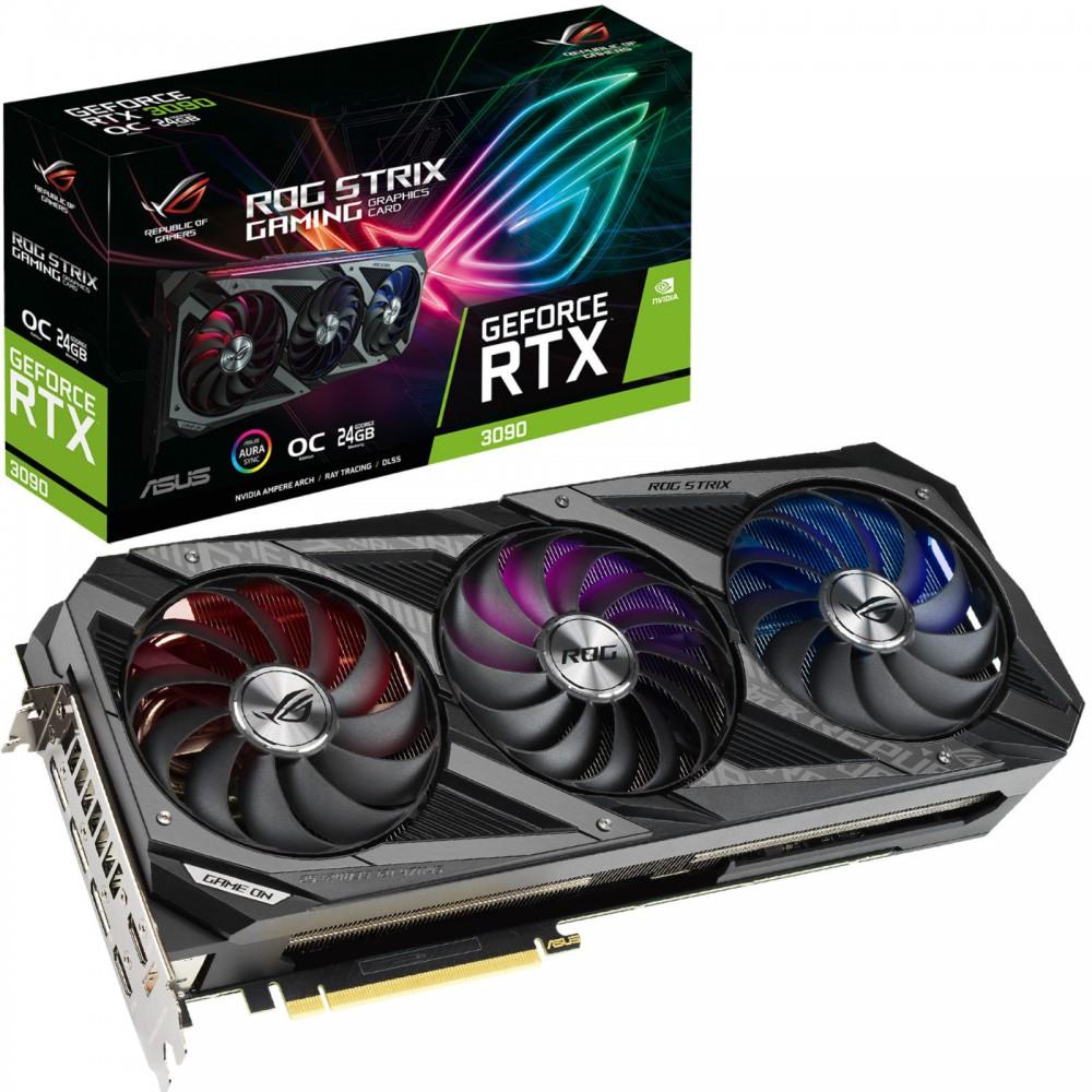 Видеокарта ASUS GeForce ROG STRIX RTX 3090 1890Mhz PCI-E 4.0 24576Mb 19500Mhz 384 bit 3xDP 2xHDMI HDCP ROG-STRIX-RTX3090-O24G-GAMING