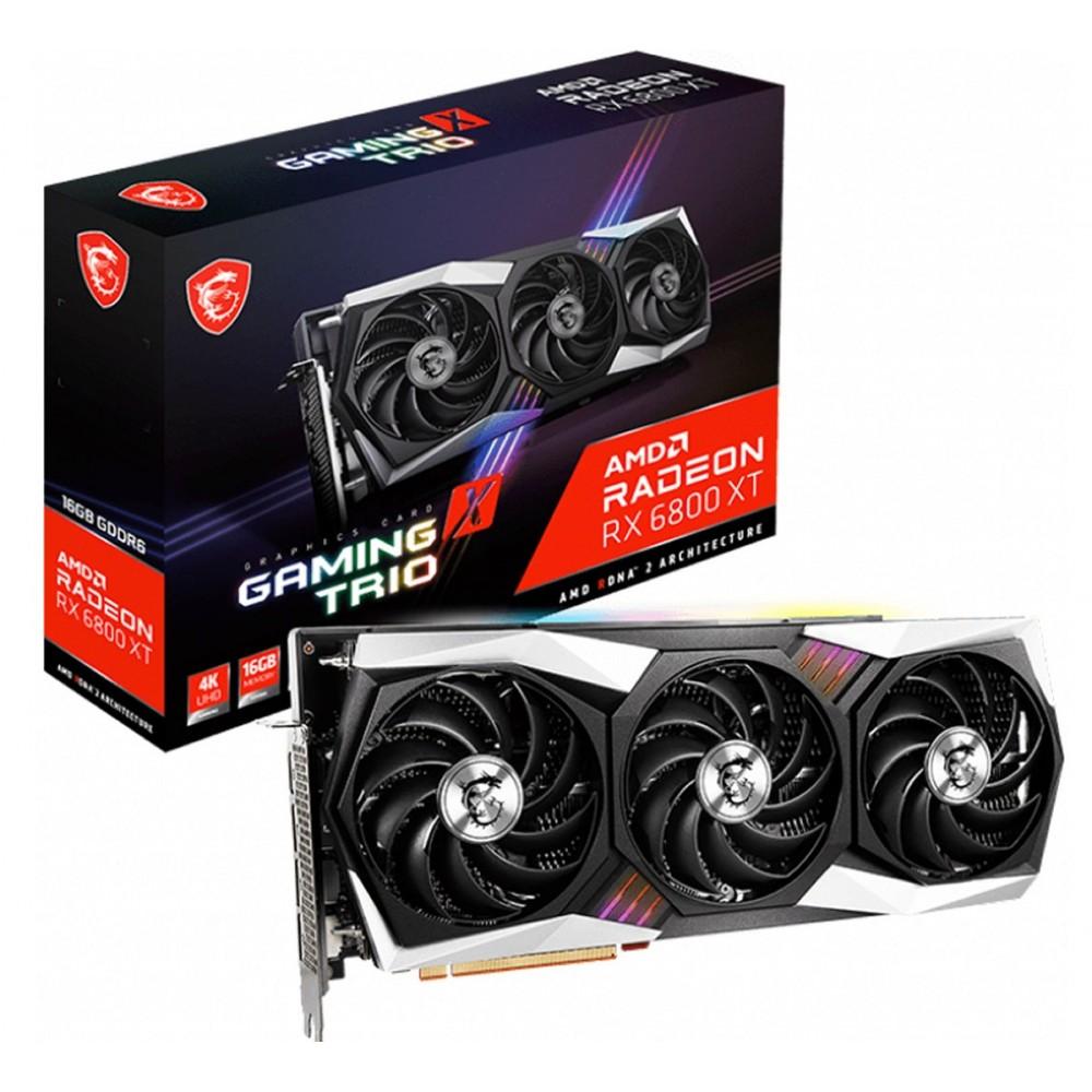 Видеокарта MSI AMD Radeon RX 6800 1850Mhz PCI-E 4.0 16384Mb 16000Mhz 256 bit 3xDP HDMI RX 6800 XT GAMING X TRIO 16G