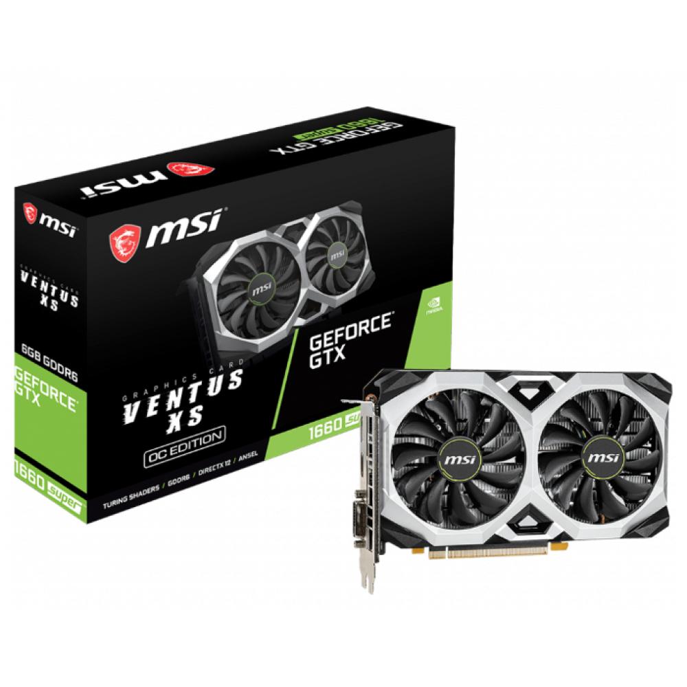 Видеокарта MSI GeForce GTX 1660 Super 1815Mhz PCI-E 3.0 6144Mb 14000Mhz 192 bit DP 2xHDMI DL-DVI-D HDCP GTX 1660 SUPER VENTUS XS OCV1