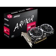 Видеокарта MSI Radeon RX 570 1268Mhz PCI-E 3.0 8192Mb 7000Mhz 256 bit DVI DP HDMI HDCP RX 570 ARMOR 8G OC