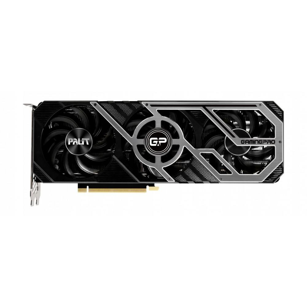 Видеокарта Palit GeForce RTX 3070 GamingPro OC 8G 1500MHz PCI-E 4.0 8192Mb 14000MHz 256 bit HDMI 3xDP HDCP Gamin NE63070S19P2-1041A