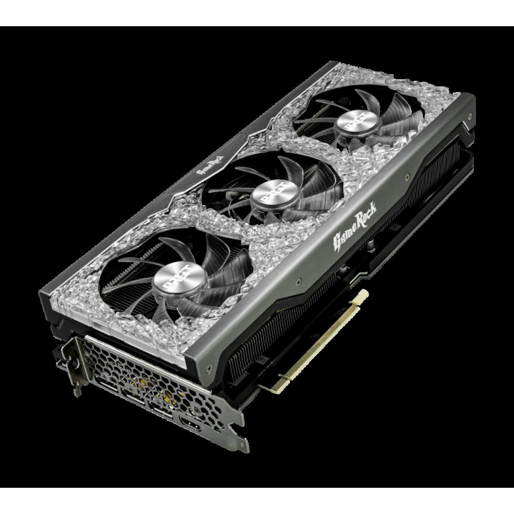 Видеокарта Palit GeForce RTX 3090 GameRock OC 1395Mhz PCI-E 4.0 24576Mb 384 bit 3xDP HDMI NED3090H19SB-1021G