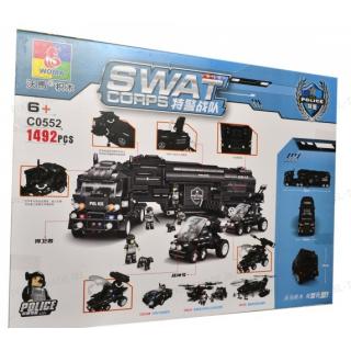"""Конструктор Swat Сorps """"Мобильная полицейская машина"""" C0552 - 1 492 дет."""