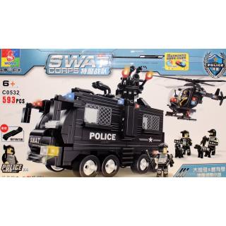 Конструктор WOMA Swat Corps Полицийский патруль C0532 593 дет