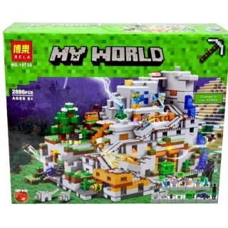 """Конструктор My World """"Горная пещера"""" BELA 10735 / 2 886 дет."""