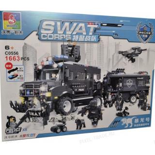 Конструктор Swat Сorps C0556 - 1 663 дет.