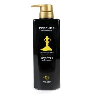 Bomei Шампунь для волос с кератином Perfume Natural Care Shampoo Keratin Refreshing, 780 мл