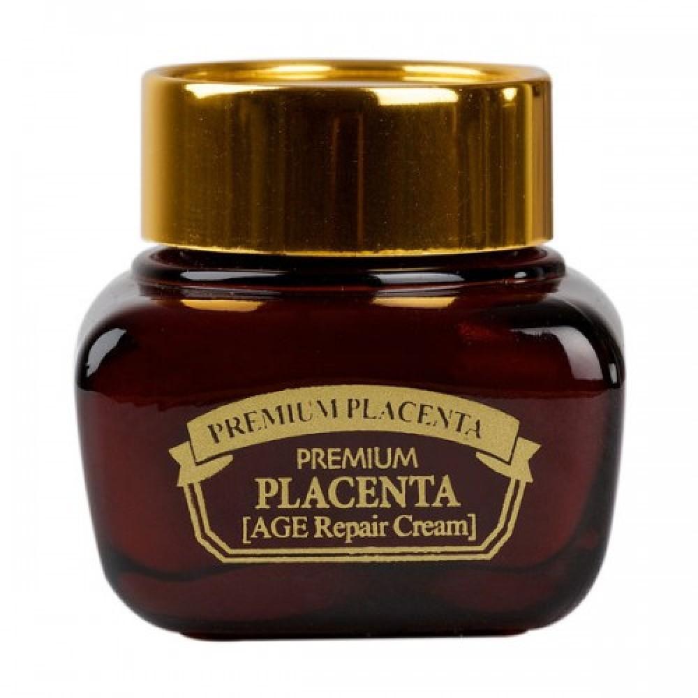 3W CLINIC ПЛАЦЕНТА Крем для лица антивозрастной Premium Placenta Age Repair Cream, 50 мл