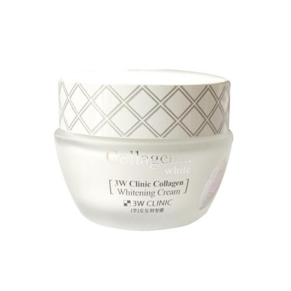 3W CLINIC ОСВЕТЛЕНИЕ Крем для лица с коллагеном Collagen Whitening Cream, 60 мл