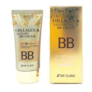 "3W CLINIC Крем BB с КОЛЛАГЕН/ЗОЛОТО ""Collagen&Luxury Gold"""