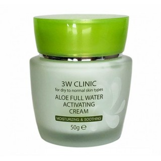 3W CLINIC Крем для лица Aloe Full Water Activating 50 гр