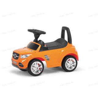 Толокар машинка каталка Benz Музыкальная Оранжевая