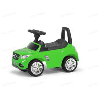 Толокар машинка каталка Benz Музыкальная Зеленая