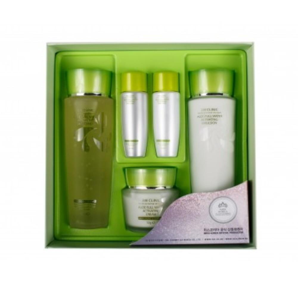 3W CLIINIC АЛОЭ Набор для ухода за кожей с алоэ Aloe Full Water Activating Skin 3 Kit Set