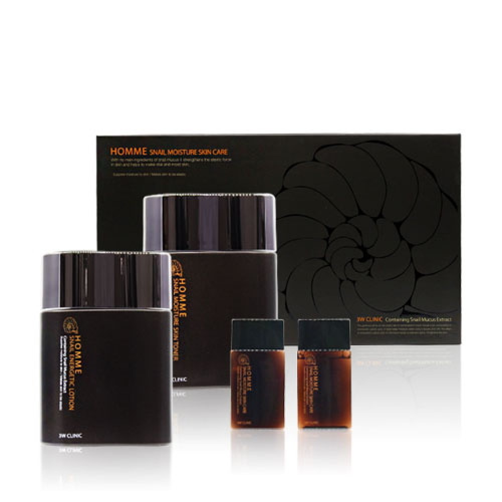 3W CLINIC НАБОР для лица МУЖСКОЙ/КОМПЛЕКСНЫЙ УХОД Snail 2- Step Kit Basic Skin Care