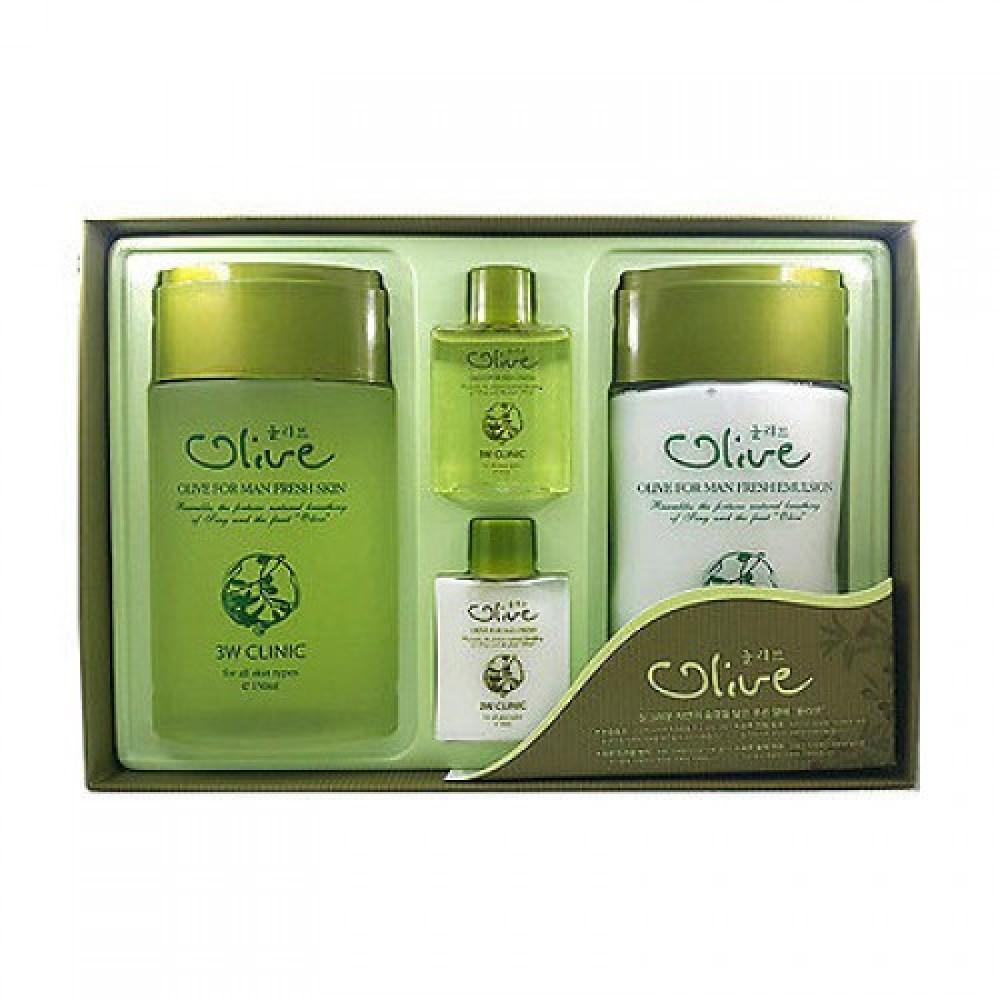 3W CLINIC НАБОР для лица МУЖСКОЙ/ОЛИВА Olive for Man Fresh 2 Items Set