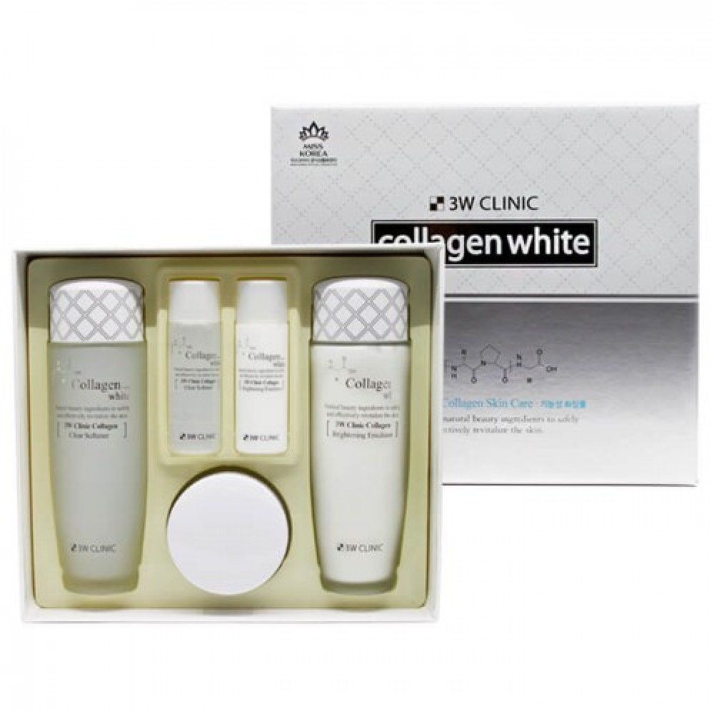 3W CLINIC ОСВЕТЛЕНИЕ Набор для ухода за лицом Collagen Whitening Skin Care Items 3 Set