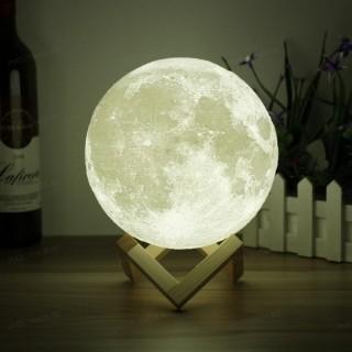 Беспроводной светильник ночник луна 3D moon night lamp
