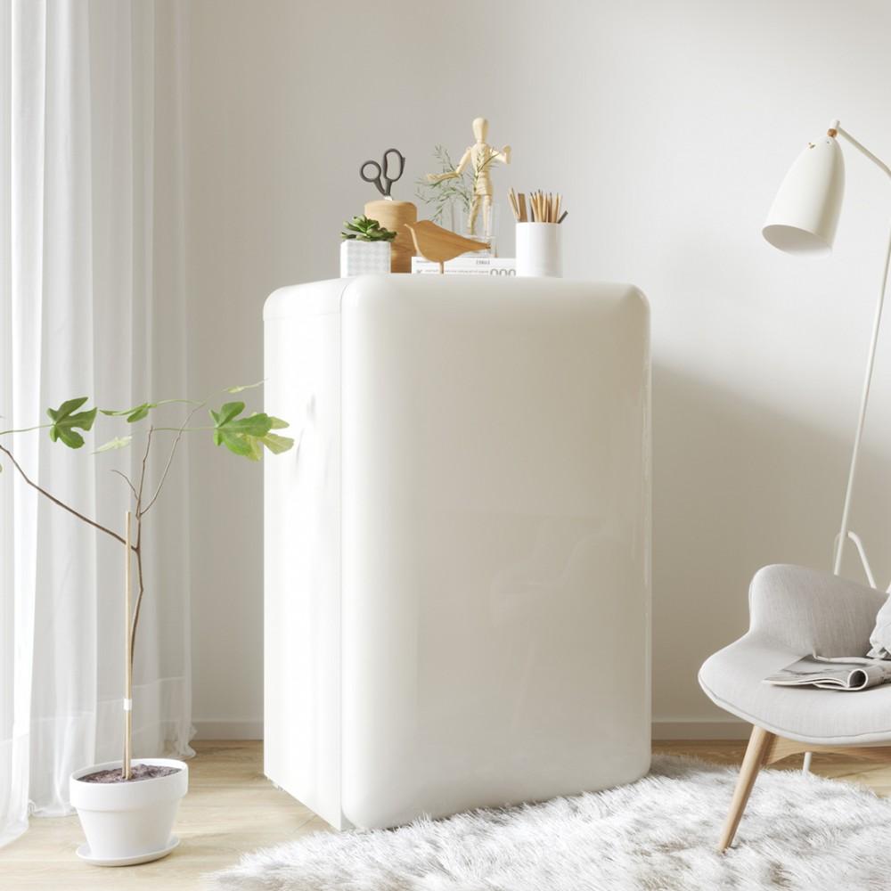 Мини-холодильник Xiaomi Xiaoji Mini Retro Refrigerator Light Series Milky White