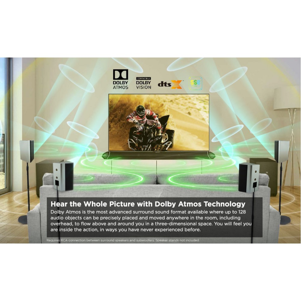 Домашняя аудиосистема Nakamichi Shockwafe Ultra 9.2.4Ch 1000W Soundbar s Dolby Atmos, Dolby Vision+SSE