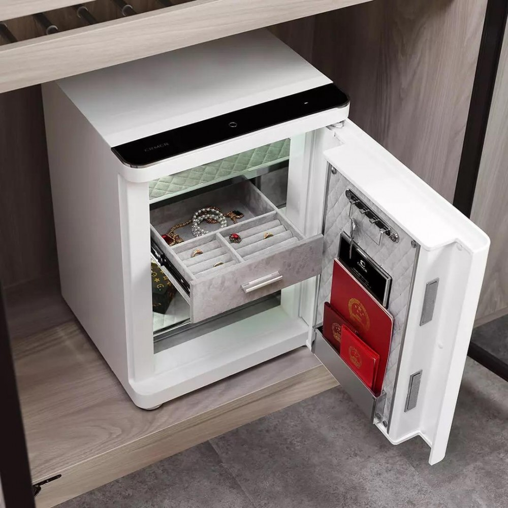 Умный электронный сейф Xiaomi CRMCR Smart Safe Deposit Box White (BGX-X1-55KN)