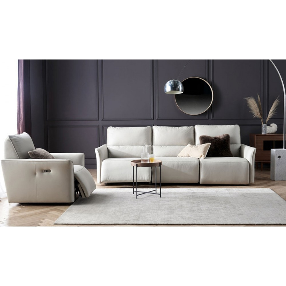 Диван-реклайнер на 1 место Xiaomi Yang Zi QiFeng Leather Electric Sofa Recliner Milk Tea Ash