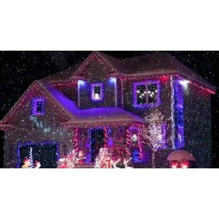 Новогодний лазерный проектор для дома и улицы