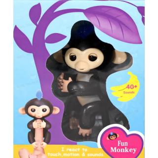 Интерактивная обезьянка на палец Fun Monkey c USB Черная