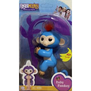 Интерактивная обезьянка на палец Fun Monkey c USB Голубая