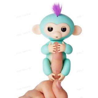 Интерактивная обезьянка на палец Fun Monkey c USB Салатовая