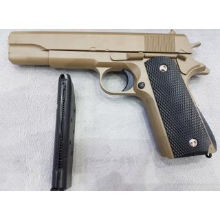 Пистолет игрушечный металлический G13 22 см на 6 мм пульках Colt 1911