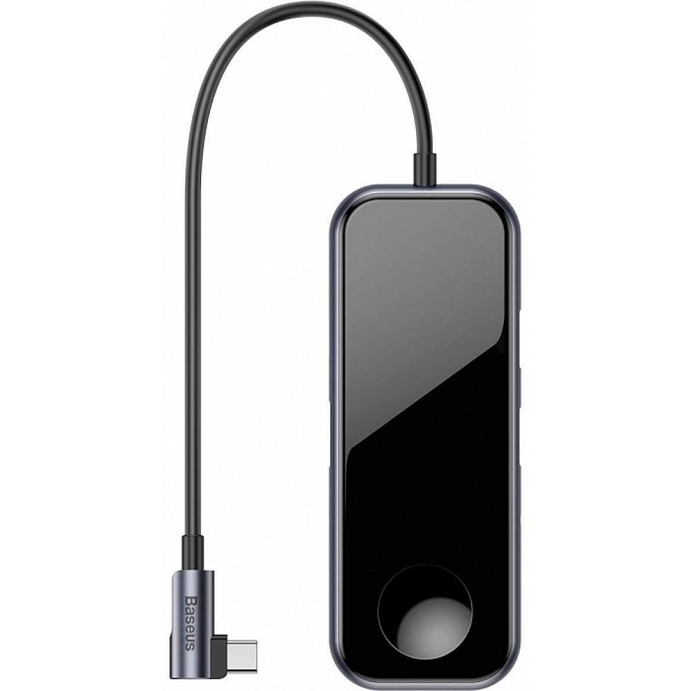 USB-концентратор Baseus Mirror Series Multifunctional Wireless Charger USB-C CAHUB-AZ0G Black