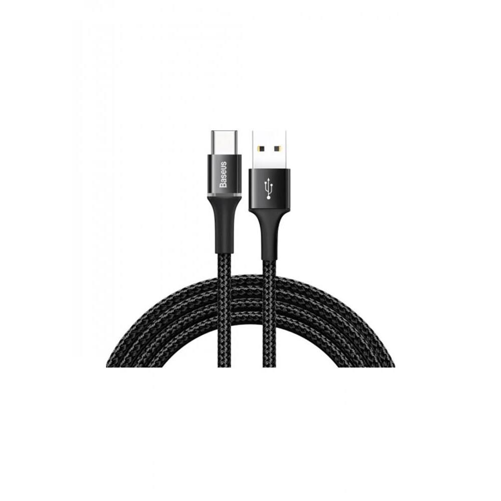 Кабель Baseus halo data cable USB For Type-C 3A 1M, черный
