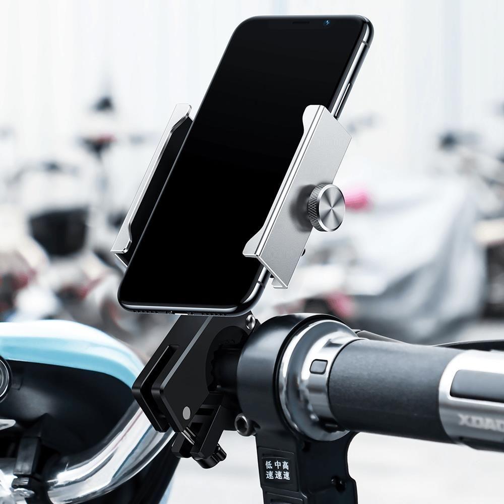 Держатель Baseus Knight Motorcycle holder Applicable на руль велосипеда Серебристый (CRJBZ-0S)