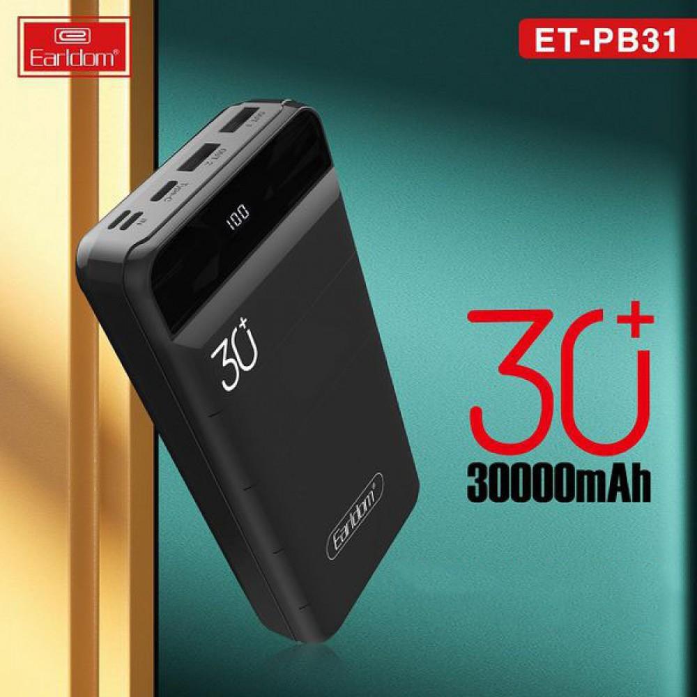 Внешний аккумулятор PowerBank Earldom ET-PB31 30000 mAh