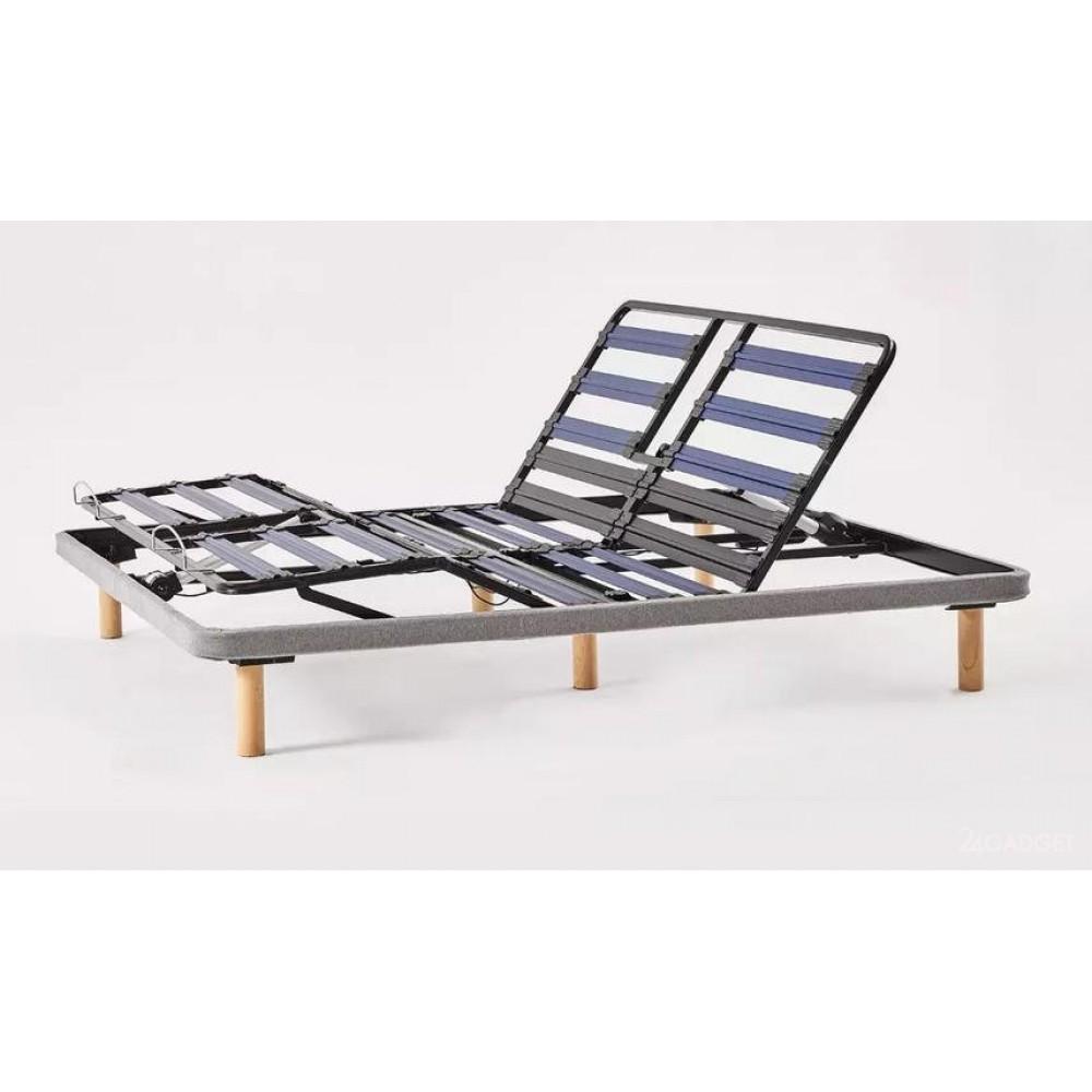 Двуспальная кровать Xiaomi 8H Milan Smart Electric Bed RM 1.8 m Grey Blue (умное основание и латексный матрас Schcott)