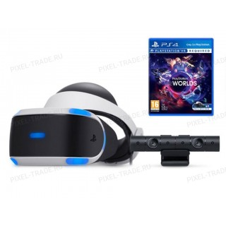 SONY PLAYSTATION VR ( CUH-ZVR2 )+ КАМЕРА + ИГРА VR WORLDS