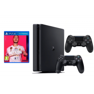 SONY PLAYSTATION 4 SLIM 1 ТБ + ДОП. ДЖОЙСТИК И ИГРА FIFA 20