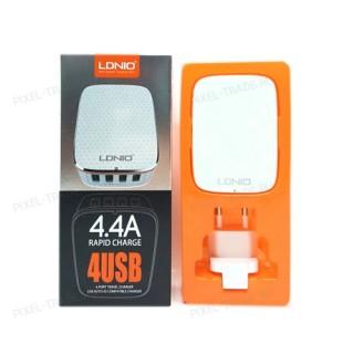 """СЗУ LDNIO """"А4404"""" 4 USB-порта 4.4А + переходник евроблок"""