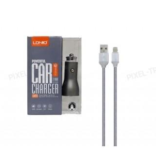 """АЗУ LDNIO """" С407Q"""" 2 USB-порта 3A + USB-кабель Lightning/Micro"""